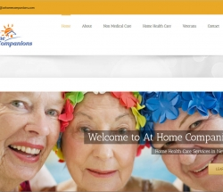 at home companions website screen shot