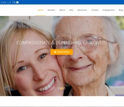 great life home care screenshot of website